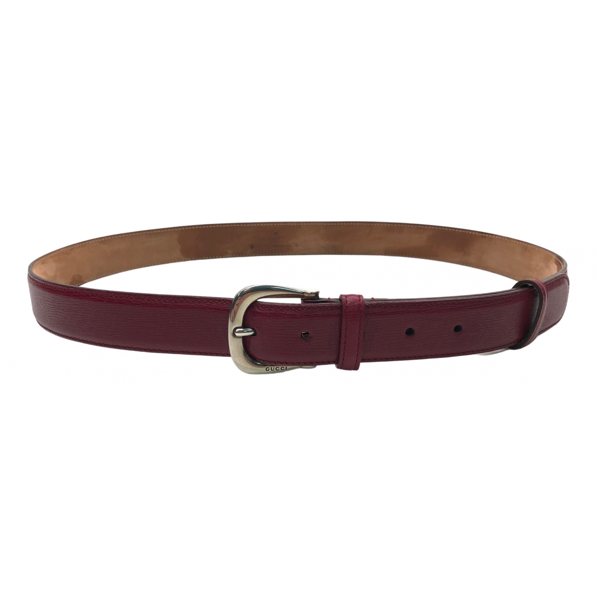 Dior \N Red Leather belt for Men 95 cm