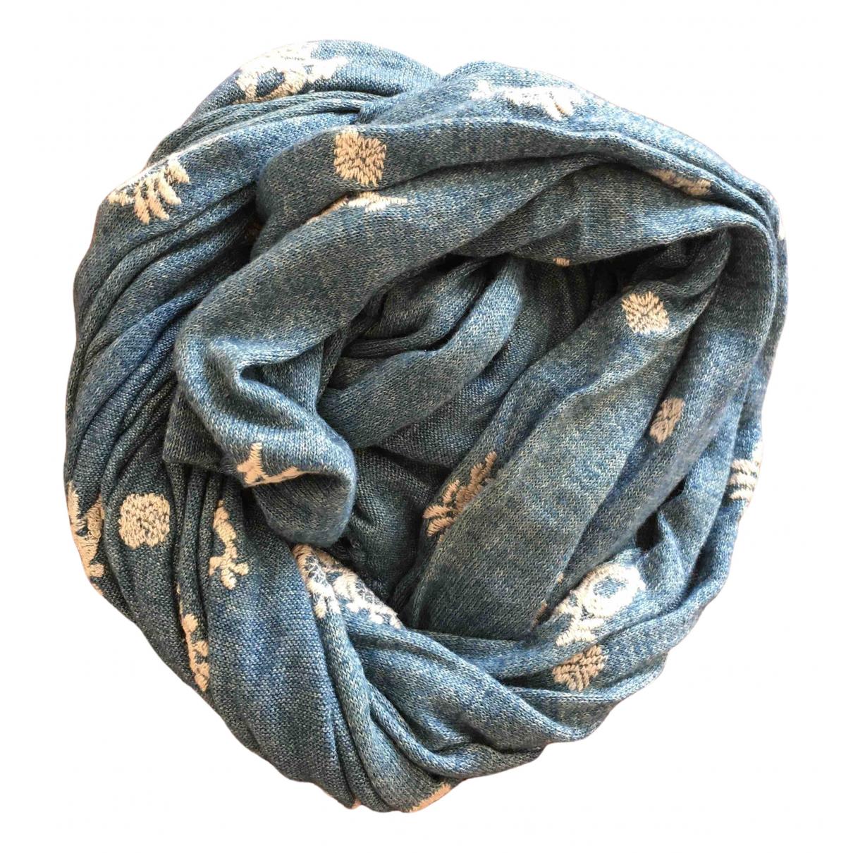 45rpm - Foulard   pour femme en coton - turquoise