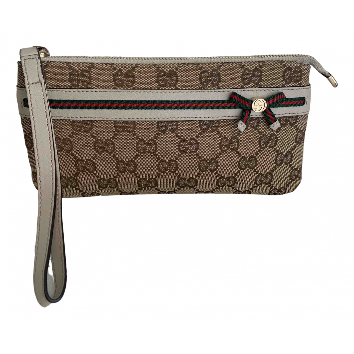 Gucci \N Clutch in  Beige Leinen