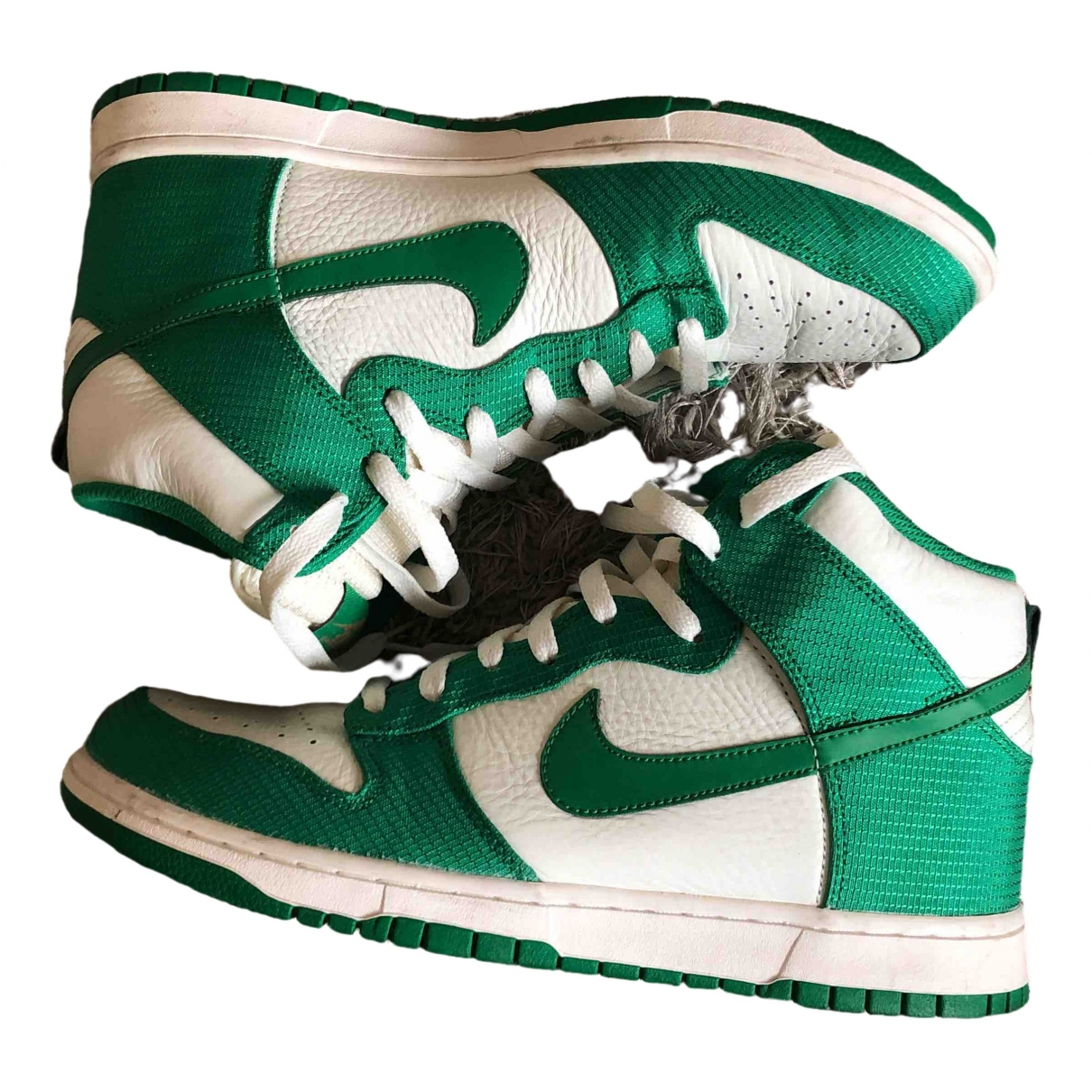 Nike SB Dunk  Green Leather Trainers for Men 10.5 US