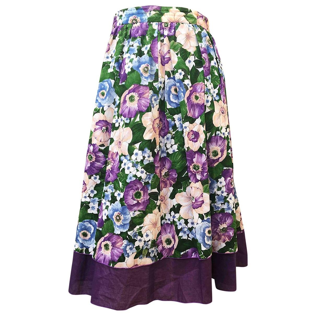 Non Signé / Unsigned \N Multicolour Cotton skirt for Women 44 IT