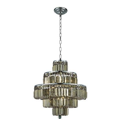 V2038D20C-GT/RC Maxime 13 Light Chrome Chandelier Golden Teak (Smoky) Royal Cut