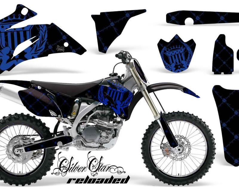 AMR Racing Graphics MX-NP-YAM-YZ250F-YZ450F-06-09-SSR U K Kit Decal Wrap + # Plates For Yamaha YZ250F YZ450F 2006-2009áRELOADED BLUE BLACK