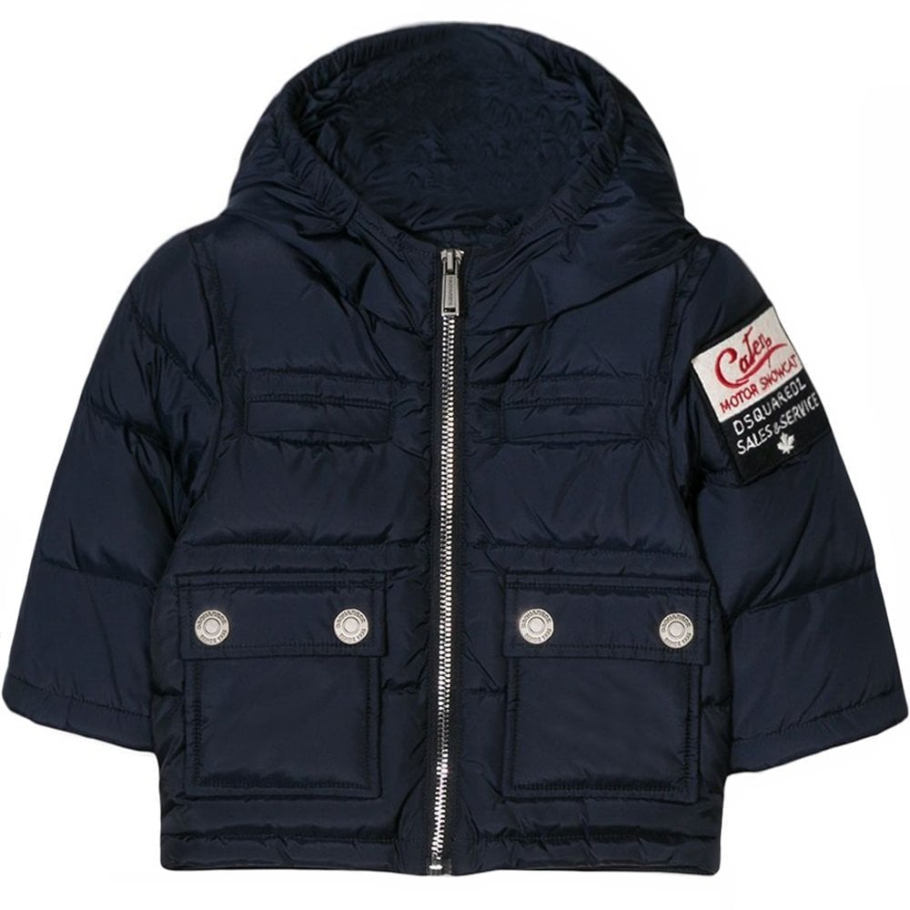Dsquared2 Kids Padded Jacket Navy Colour: NAVY, Size: 14 YEARS