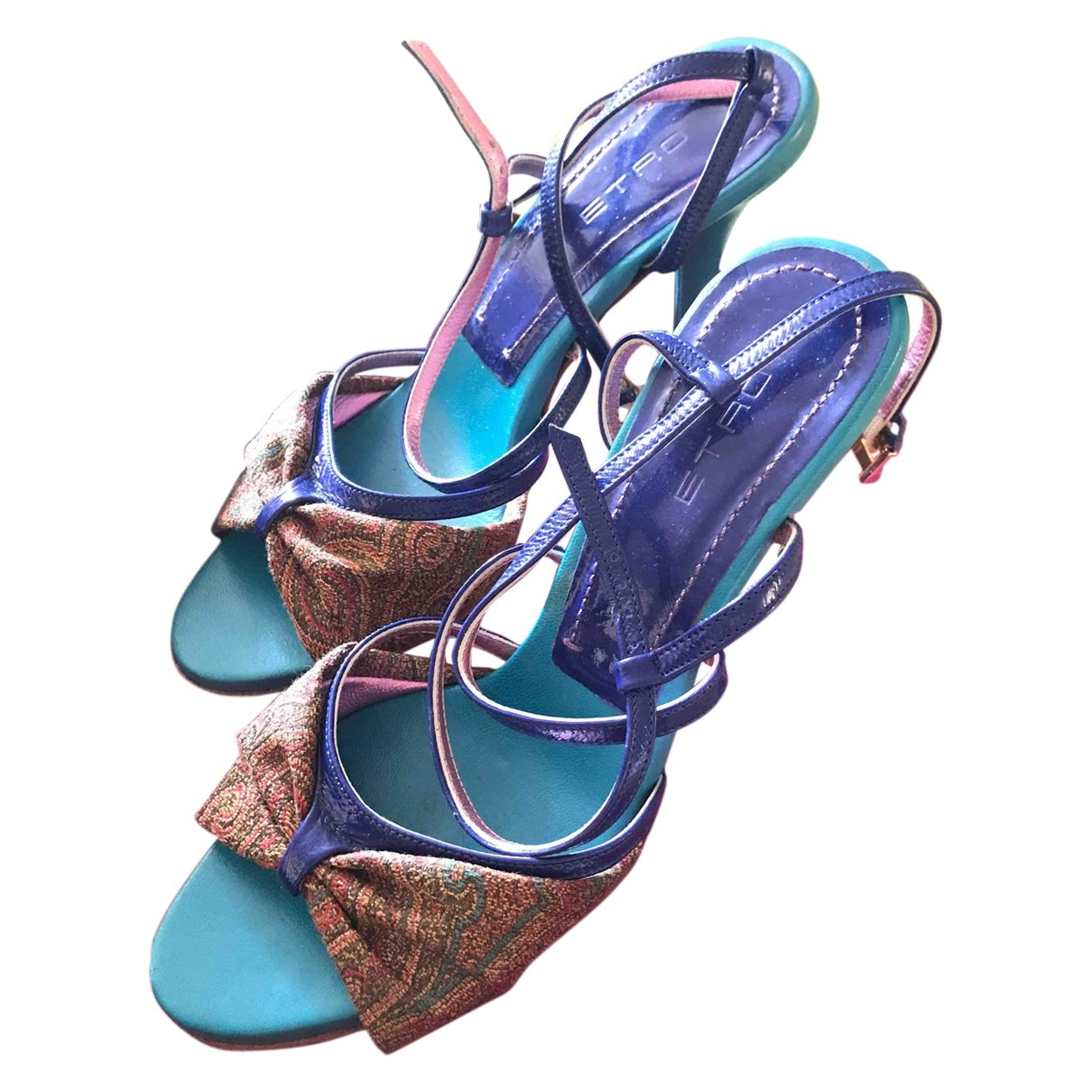 Etro \N Turquoise Leather Sandals for Women 37.5 EU
