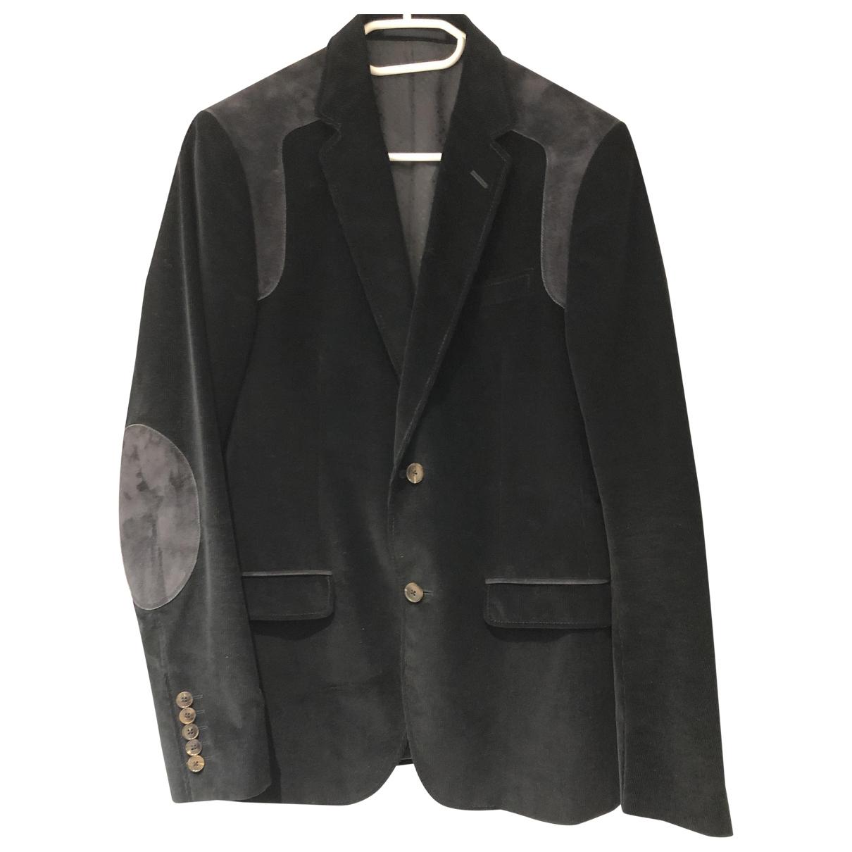 Gucci \N Jacke in  Schwarz Baumwolle