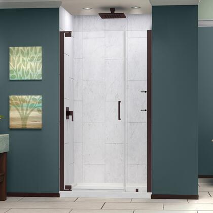 SHDR-4137720-06 Elegance 37 1/4 - 39 1/4 In. W X 72 In. H Frameless Pivot Shower Door In Oil Rubbed