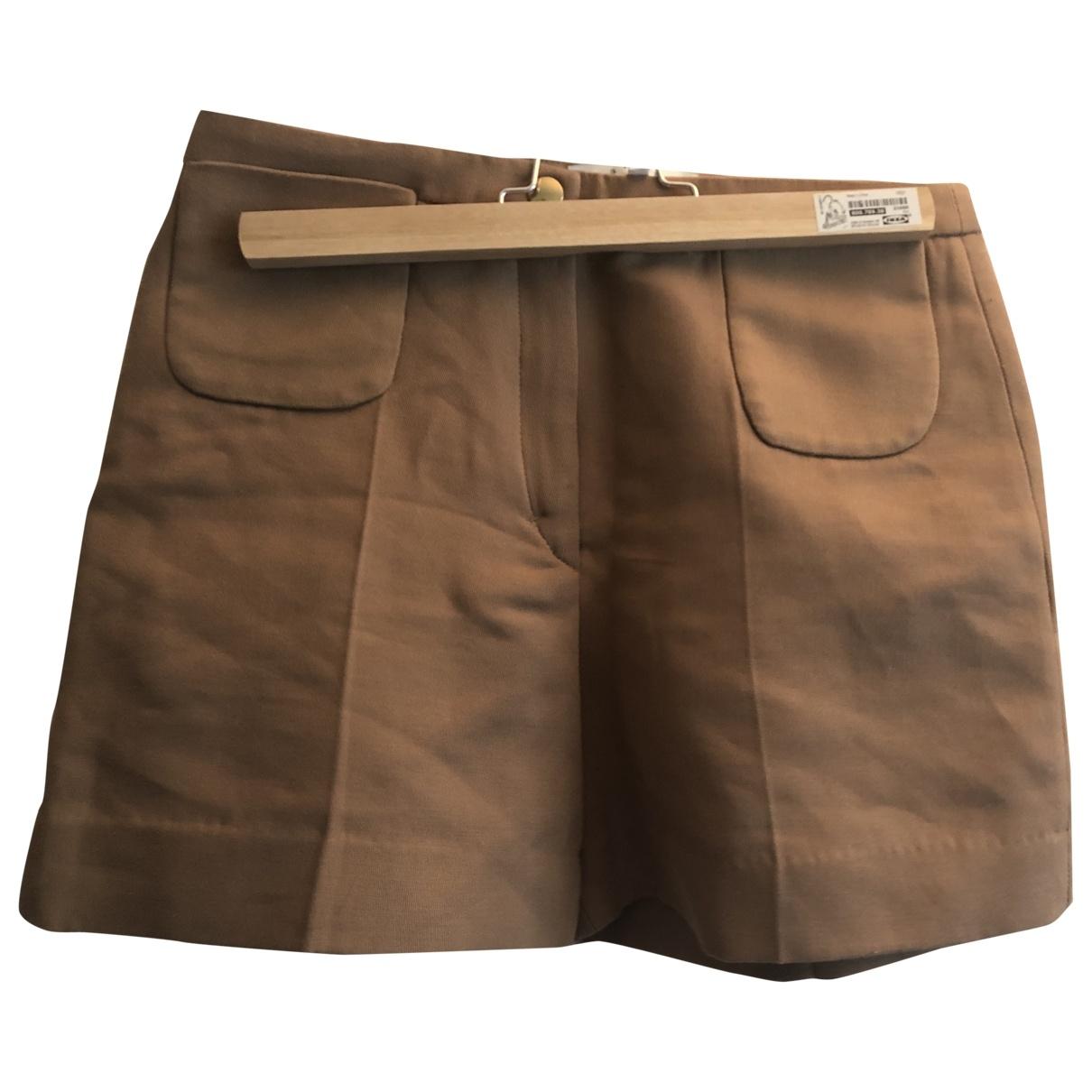 Sandro \N Camel Cotton Shorts for Women 36 FR
