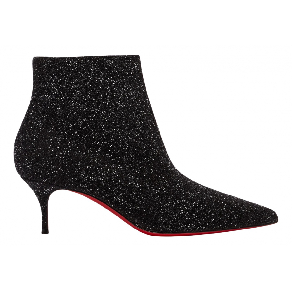 Christian Louboutin \N Black Cloth Ankle boots for Women 38 EU