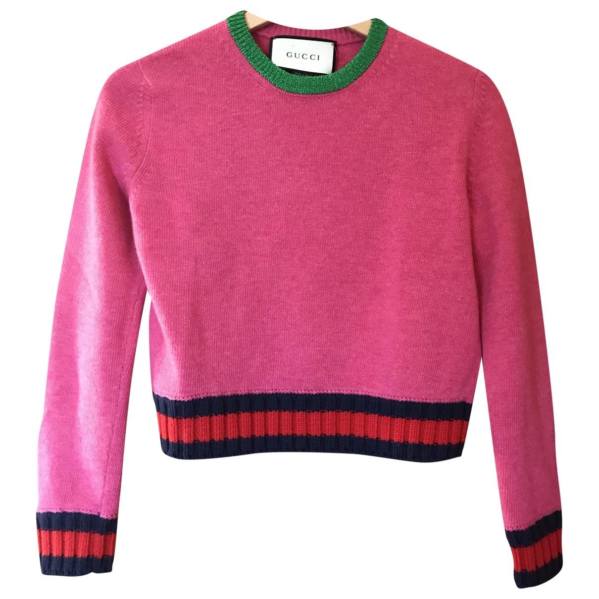Gucci - Pull   pour femme en laine - rose