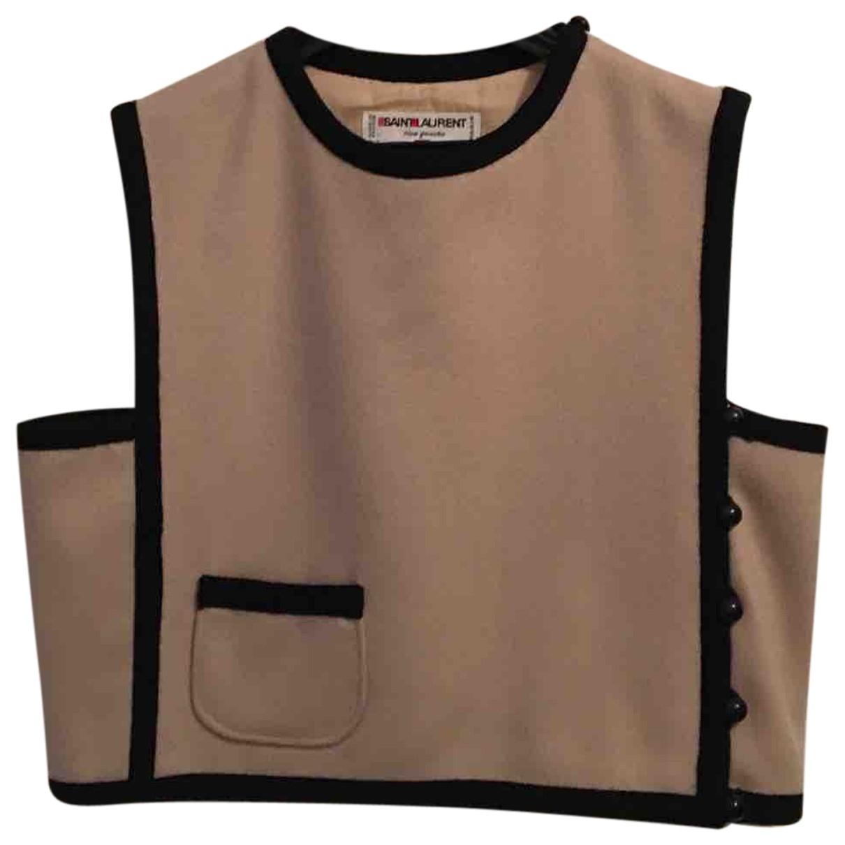 Yves Saint Laurent \N Beige Wool Knitwear for Women 40 FR