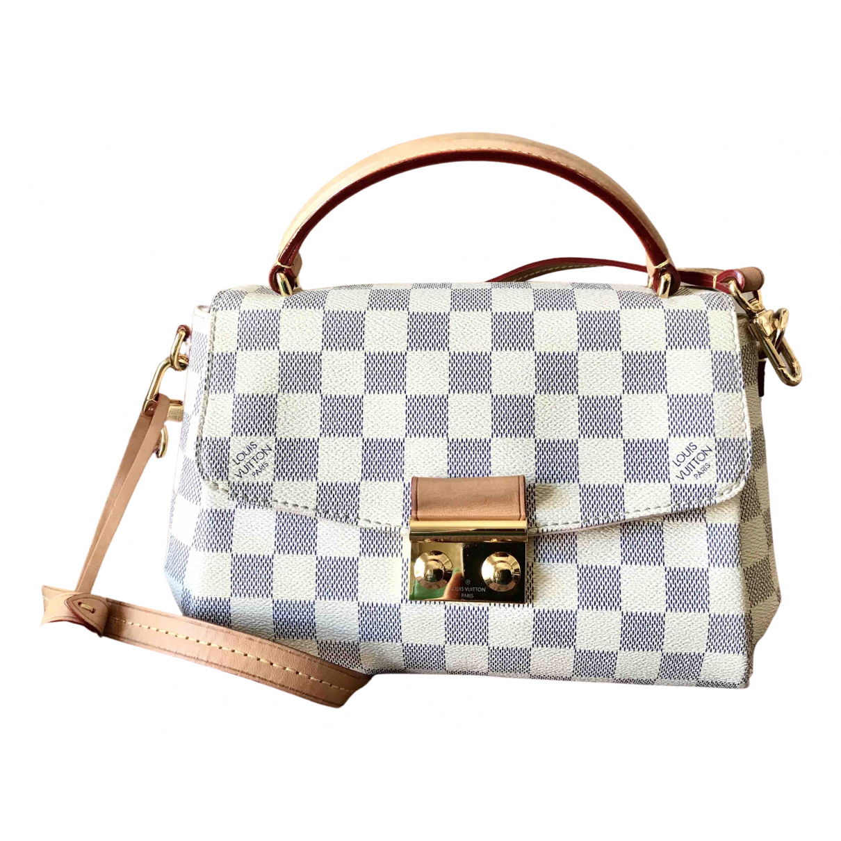 Louis Vuitton Croisette Handtasche in  Bunt Leinen