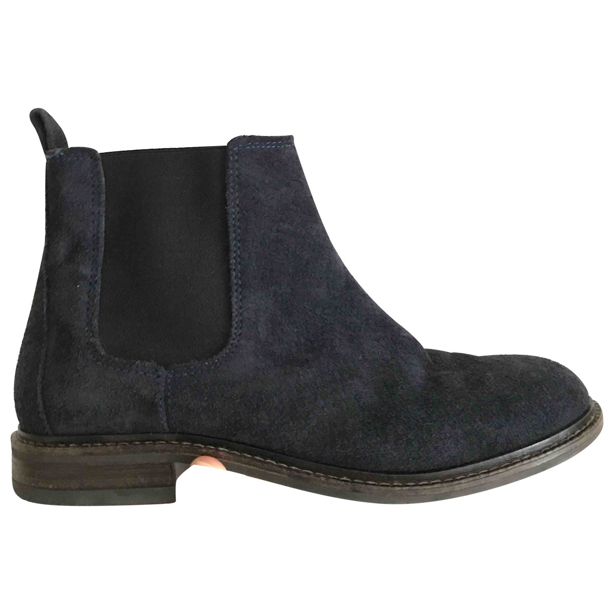 Clarks \N Blue Suede Ankle boots for Women 5 UK