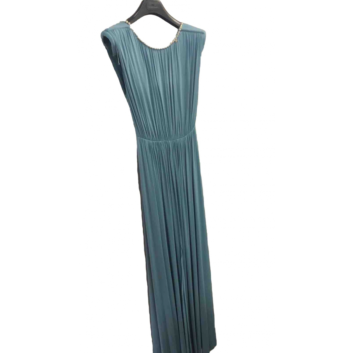Elisabetta Franchi \N Turquoise Silk dress for Women 42 IT