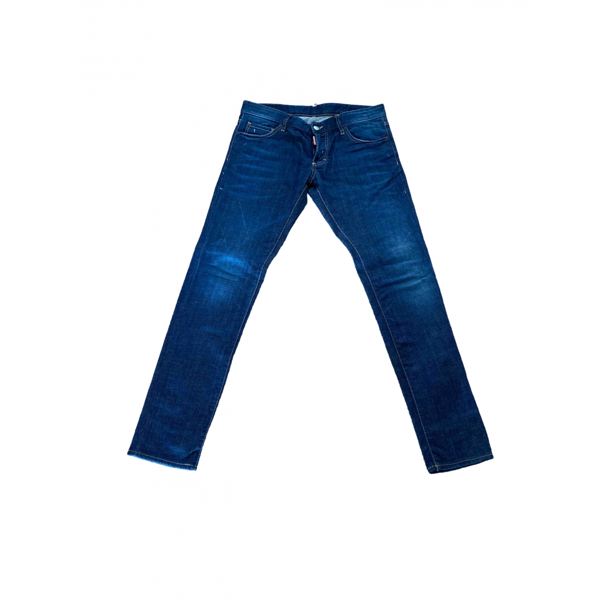 Dsquared2 \N Blue Cotton - elasthane Jeans for Men 34 US