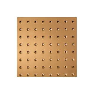 Fasade Minidome Decorative Vinyl 2ft x 2ft Lay In Ceiling Tile in Polished Copper (5 Pack) (12x12 Inch Sample)