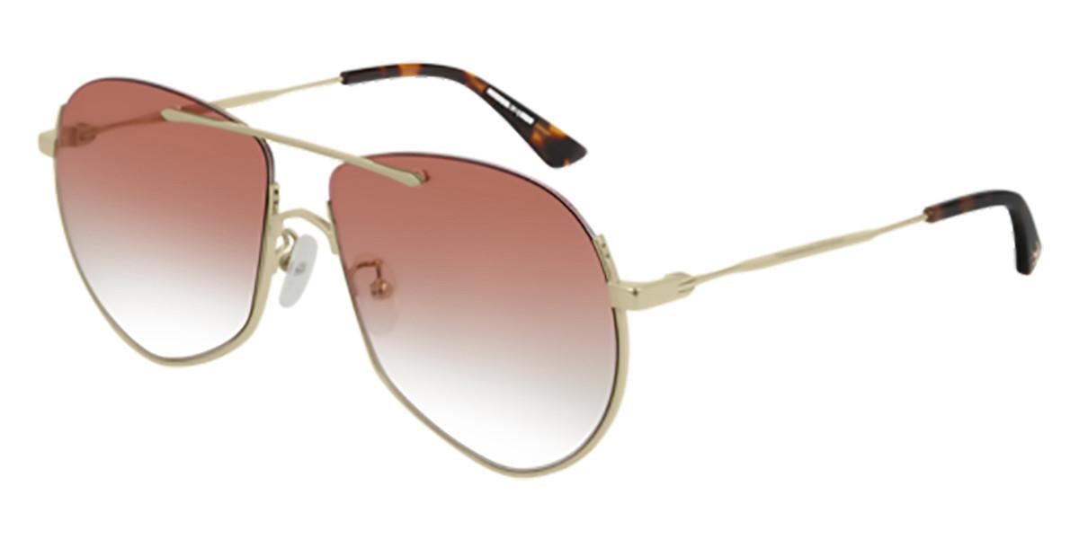 McQ MQ0203S 004 Men's Sunglasses Gold Size 59 - Free RX Lenses