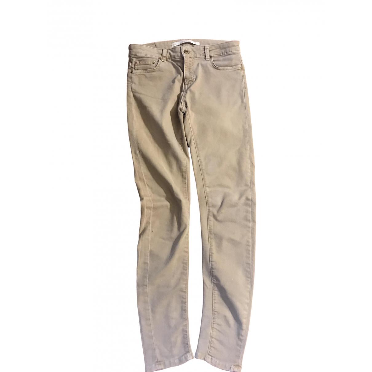 Zara \N Beige Trousers for Women 36 FR