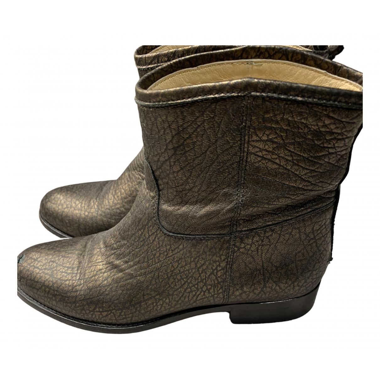 Jimmy Choo N Black Leather Boots for Women 38 EU