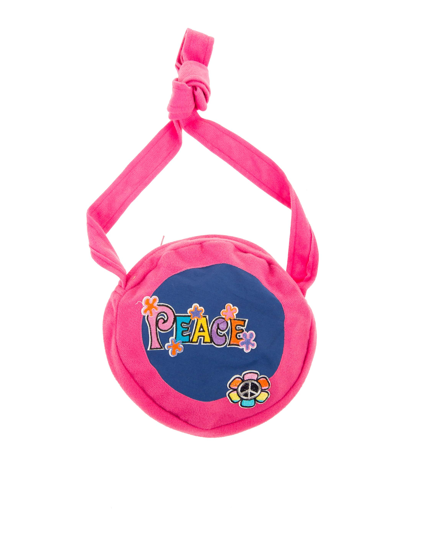Kostuemzubehor Tasche Schriftzug Peace pink