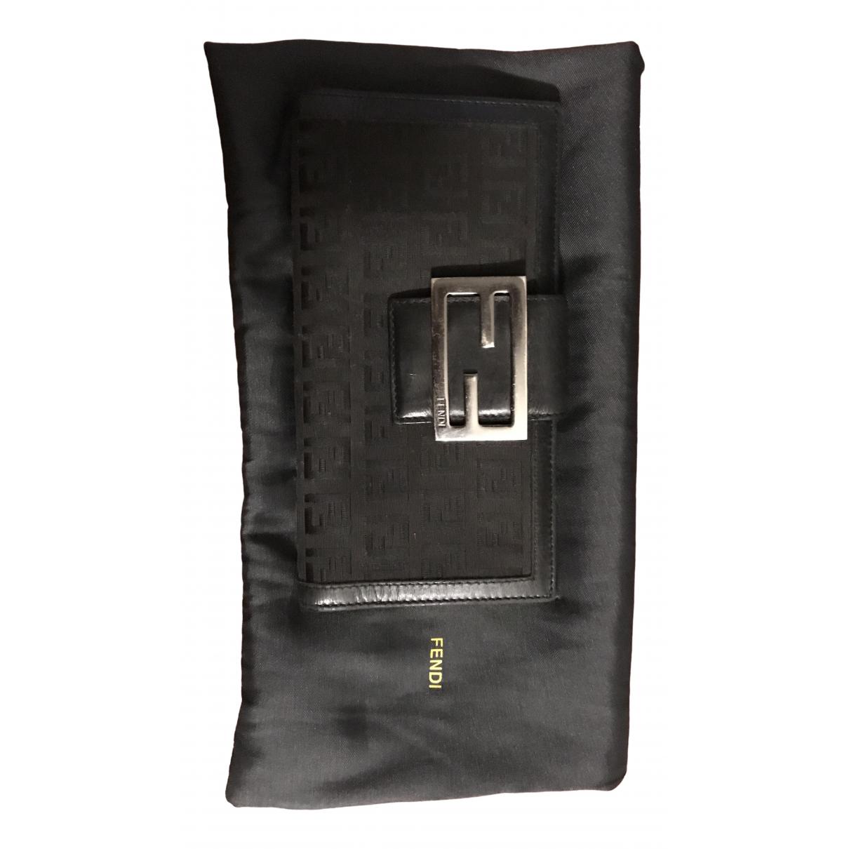 Fendi - Portefeuille   pour femme en cuir - noir