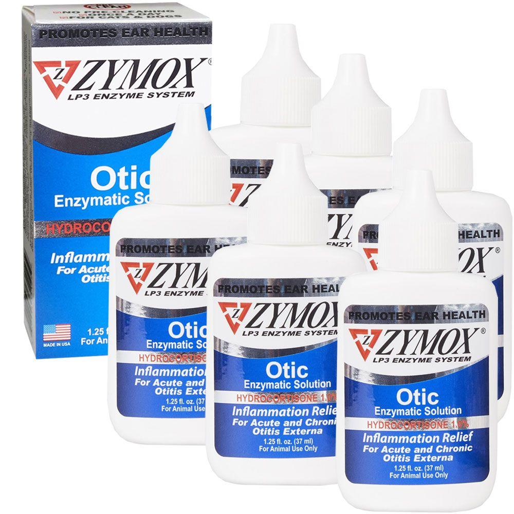 6-PACK Zymox Otic (7.5oz) with Hydrocortisone (1.0%)