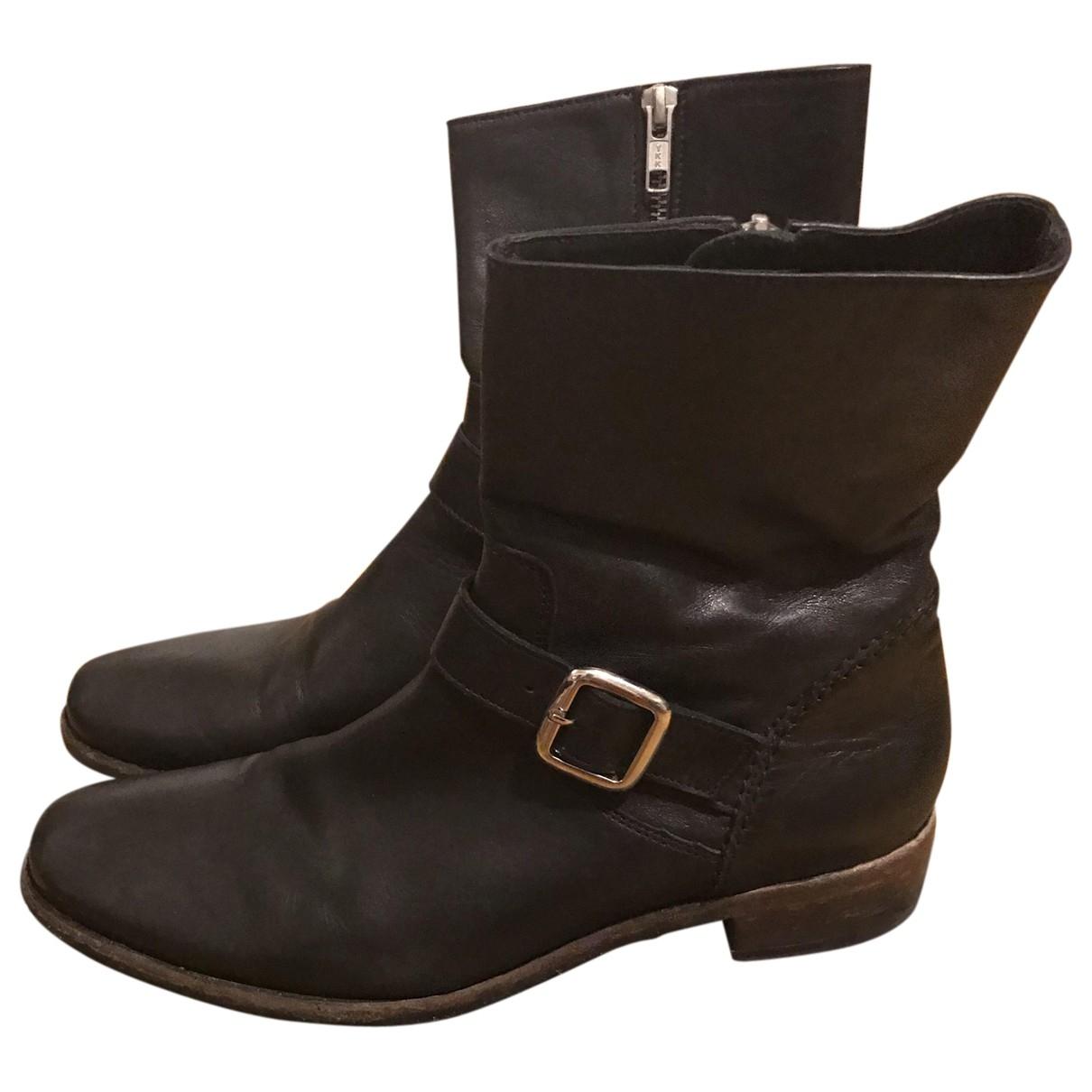 The Kooples \N Black Leather Boots for Men 43 EU