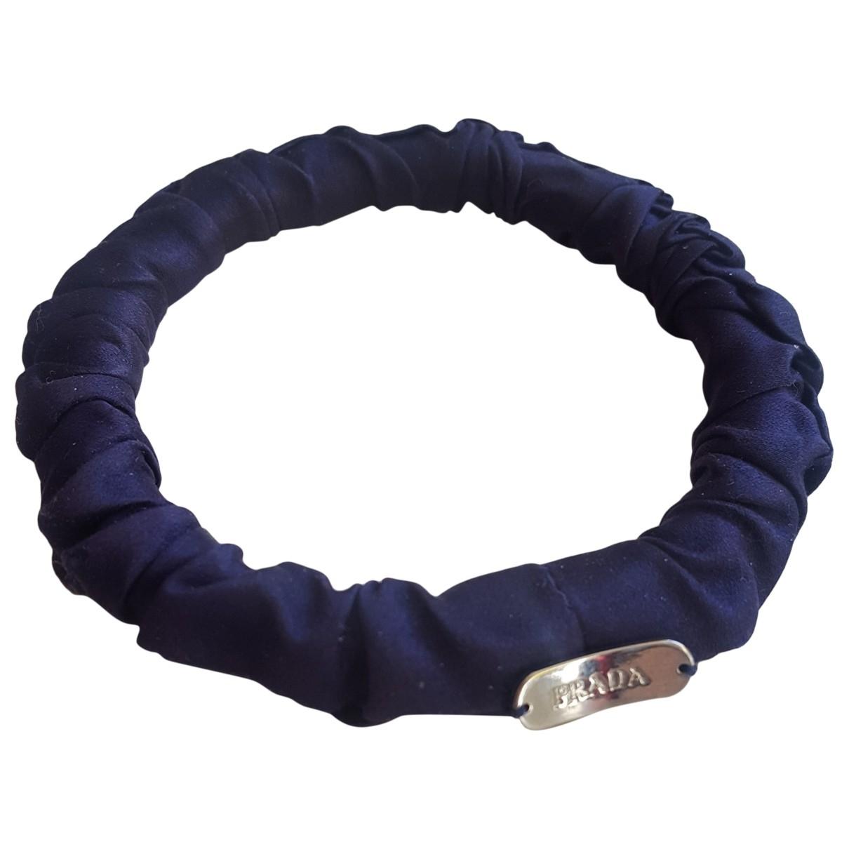 Prada - Bracelet   pour femme en soie - marine