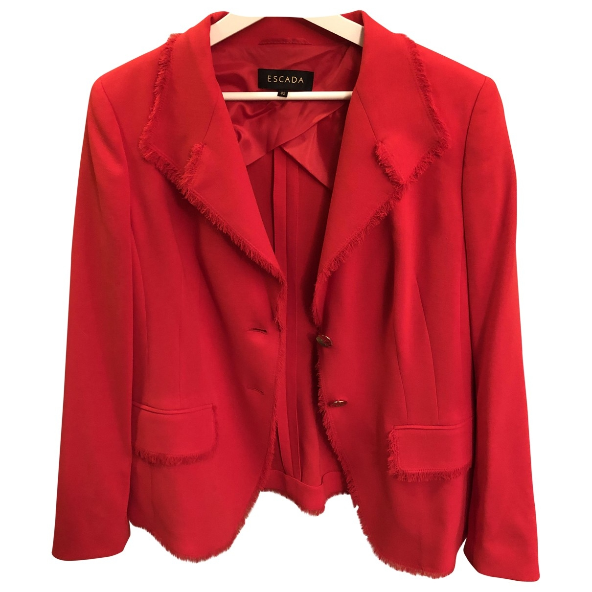 Escada \N Jacke in  Rot Wolle