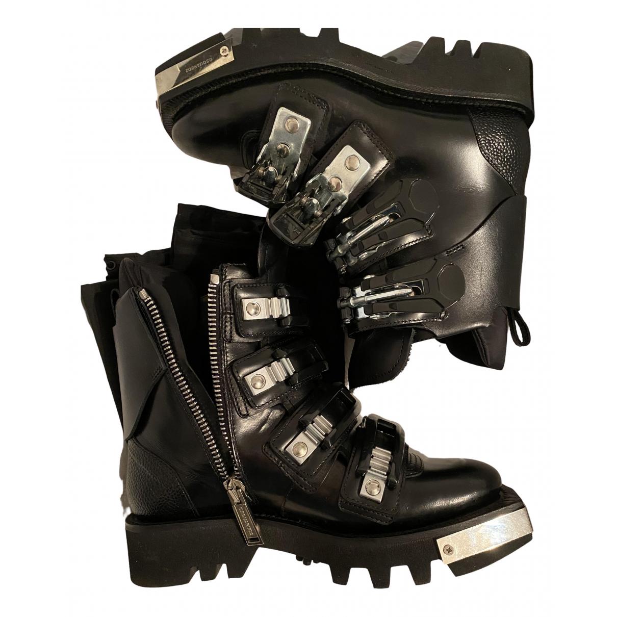 Dsquared2 \N Stiefeletten in  Schwarz Leder