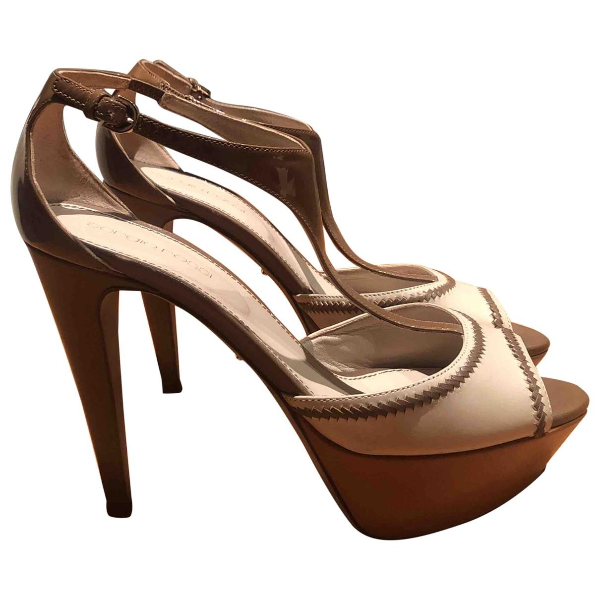 Sergio Rossi \N Beige Leather Sandals for Women 37 EU