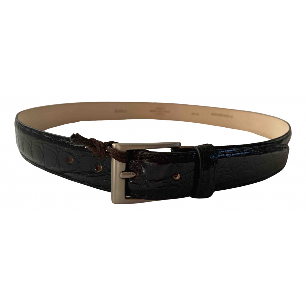 Non Signé / Unsigned \N Black Crocodile belt for Men 100 cm