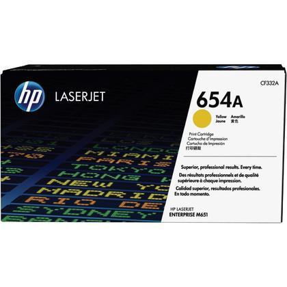 HP 654A CF332A cartouche de toner originale jaune