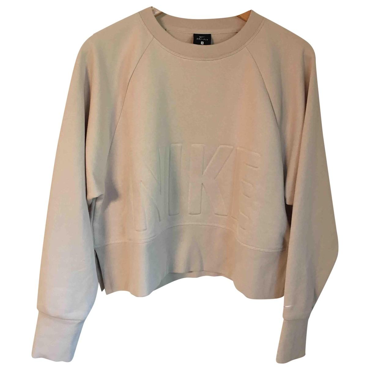 Nike - Pull   pour femme en coton - blanc