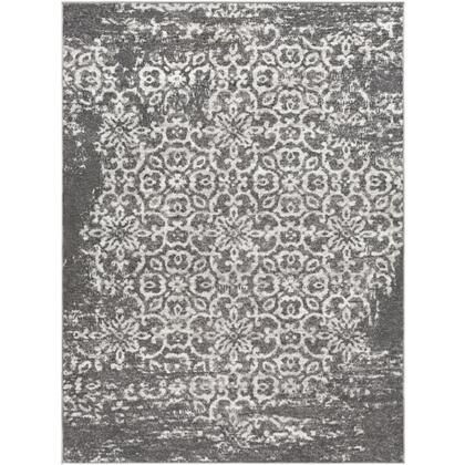 Monte Carlo MNC-2305 9' x 12' Rectangle Traditional Rug in Charcoal  Light Gray