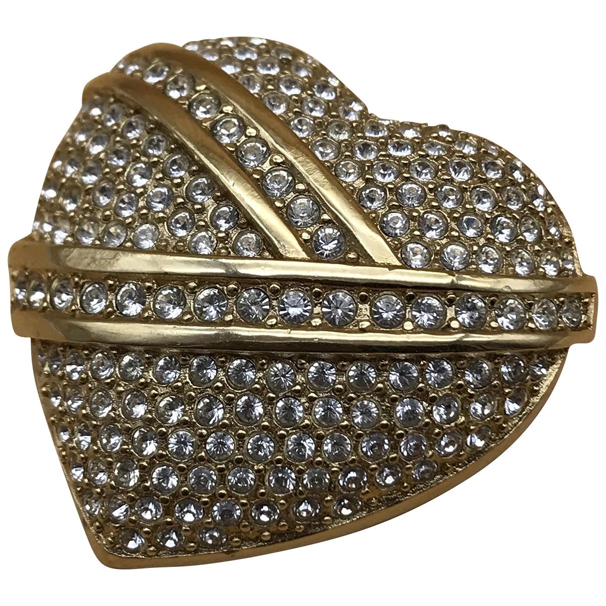 Broche en Metal Dorado Christian Dior