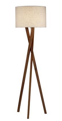 3227-15 Brooklyn Floor Lamp  Walnut Wood