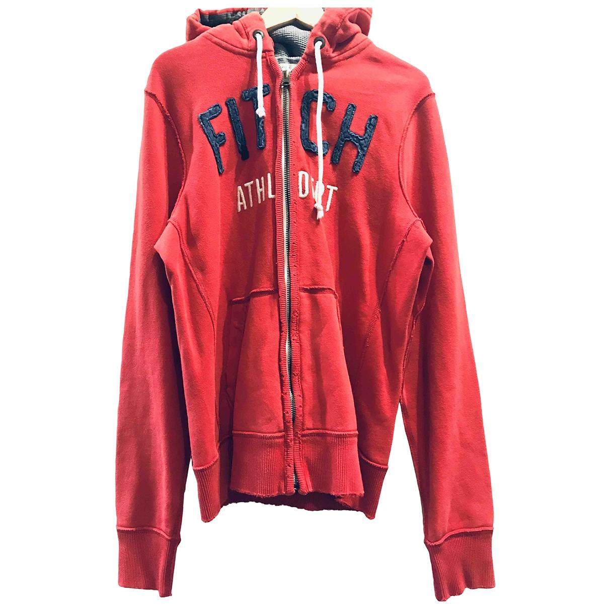 Abercrombie & Fitch - Pulls.Gilets.Sweats   pour homme en coton - rouge