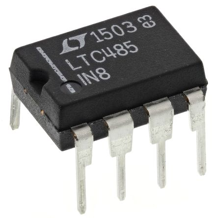 Analog Devices LTC485IN8#PBF, 1-RX Line Receiver, RS-422, RS-485, 5 V, 8-Pin PDIP