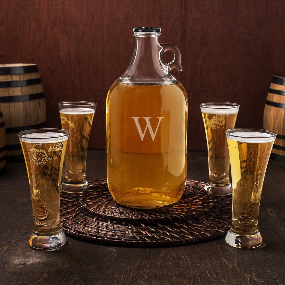 Personalized Craft Beer Growler Tasters Set (R)