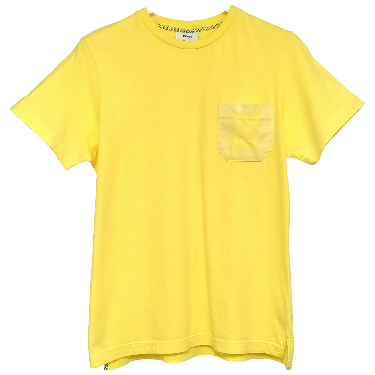 Fendi - Top   pour femme en coton - jaune