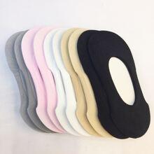 5 Paare Einfarbige Socken mit niedrigem Schnitt