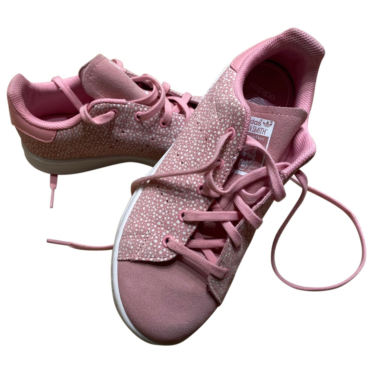 Adidas Stan Smith Pink Leather Trainers for Kids 35 FR