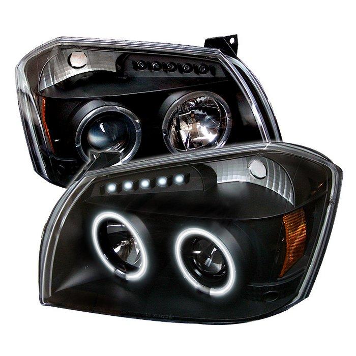 Spyder CCFL LED Black Projector HeadLights Dodge Magnum 05-08