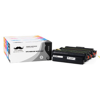 Canon 055H Compatible Toner Cartridge Combo High Yield BK/C/M/Y - With Chip - Moustache®