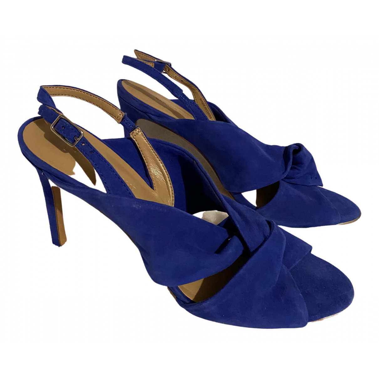 Banana Republic \N Blue Suede Heels for Women 9 US
