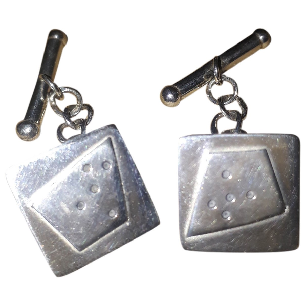 Non Signé / Unsigned \N Silver Silver Cufflinks for Men \N
