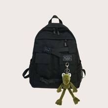 Guys Letter Patch Backpack With Bag Charm