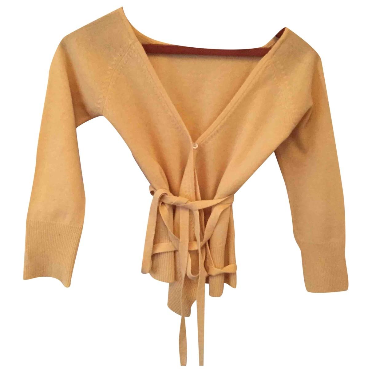 Keita Maruyama - Pull   pour femme en laine - jaune