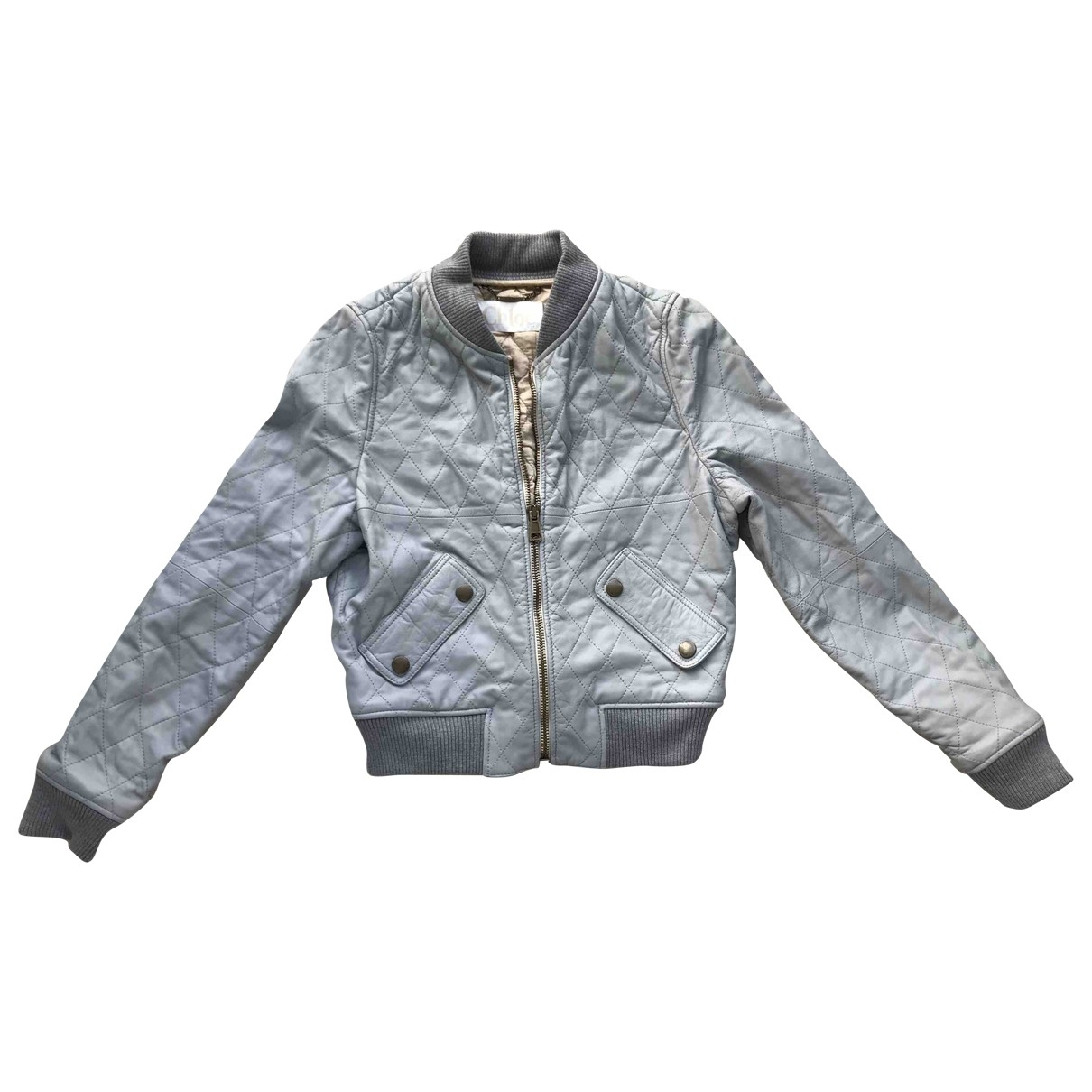 Chloé \N Blue Leather jacket for Women 36 FR